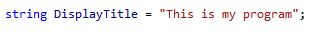 Example syntax in C++
