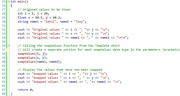 Function templates code 2